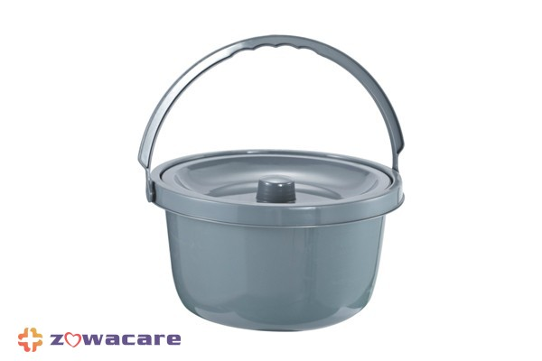 Zowa Foldable Steel Commode with Backrest and Bucket 2